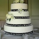 130x130 sq 1223750414000 4tierroundweddingcake%2ccustomblackribbon