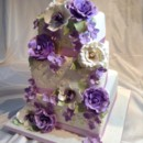 130x130 sq 1395675345098 sonya purple flower  mini cake 00