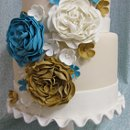 130x130 sq 1313082441473 eleganttwotierflowercascadeweddingcake