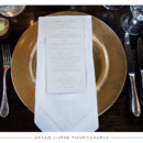 130x130 sq 1415116273713 menu placecard gold tablesetting   asheville event