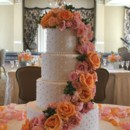 130x130 sq 1376048733847 silverpink wedding cake cascading flowers the cake zone  florida 12
