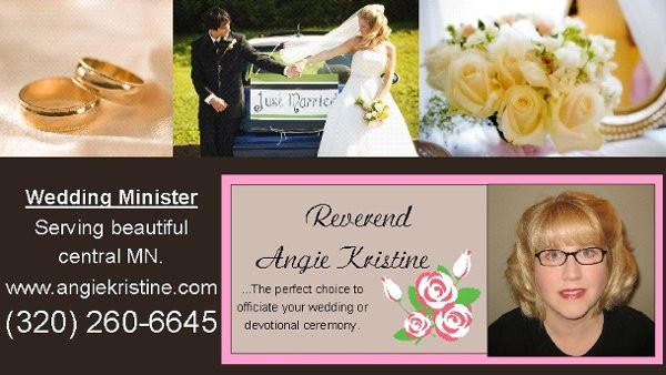Rev Angie Kristine Reviews Amp Ratings Wedding Officiant Minnesota