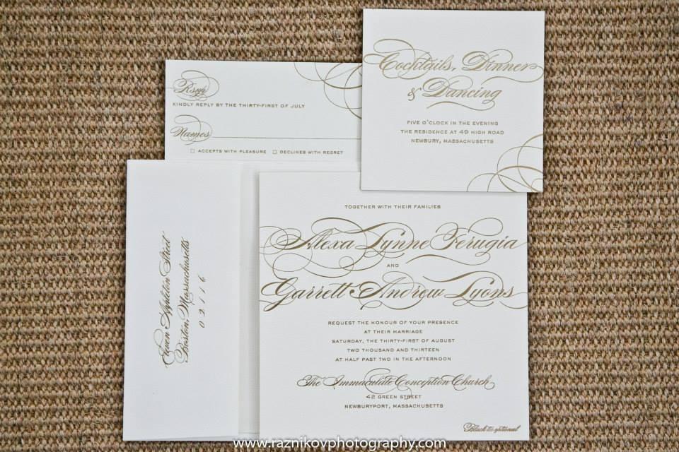 Allure Invitations Wedding Invitations Massachusetts