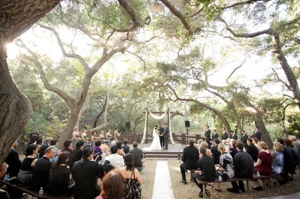 oak canyon nature center wedding ceremony reception