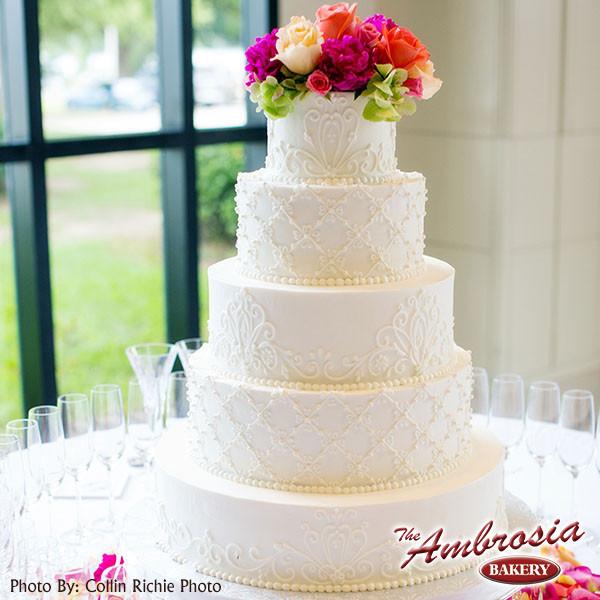 The Ambrosia Bakery Wedding Cake Louisiana New Orleans