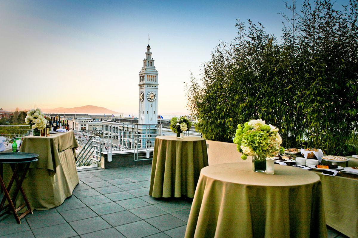 Hotel vitale wedding ceremony reception venue for Wedding dress rental san jose