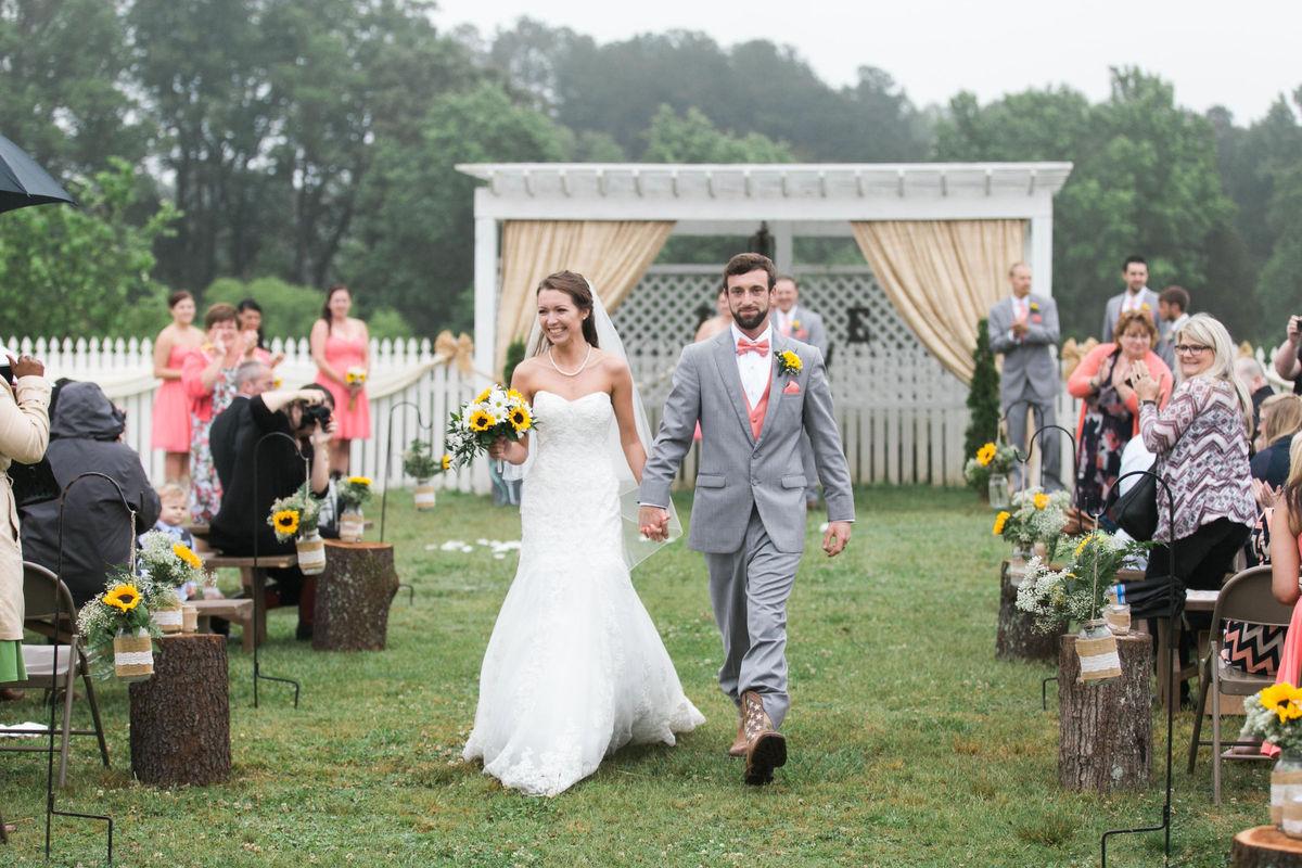 Sunrise auburn wedding