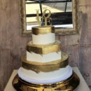 130x130 sq 1415159936244 gold love cake