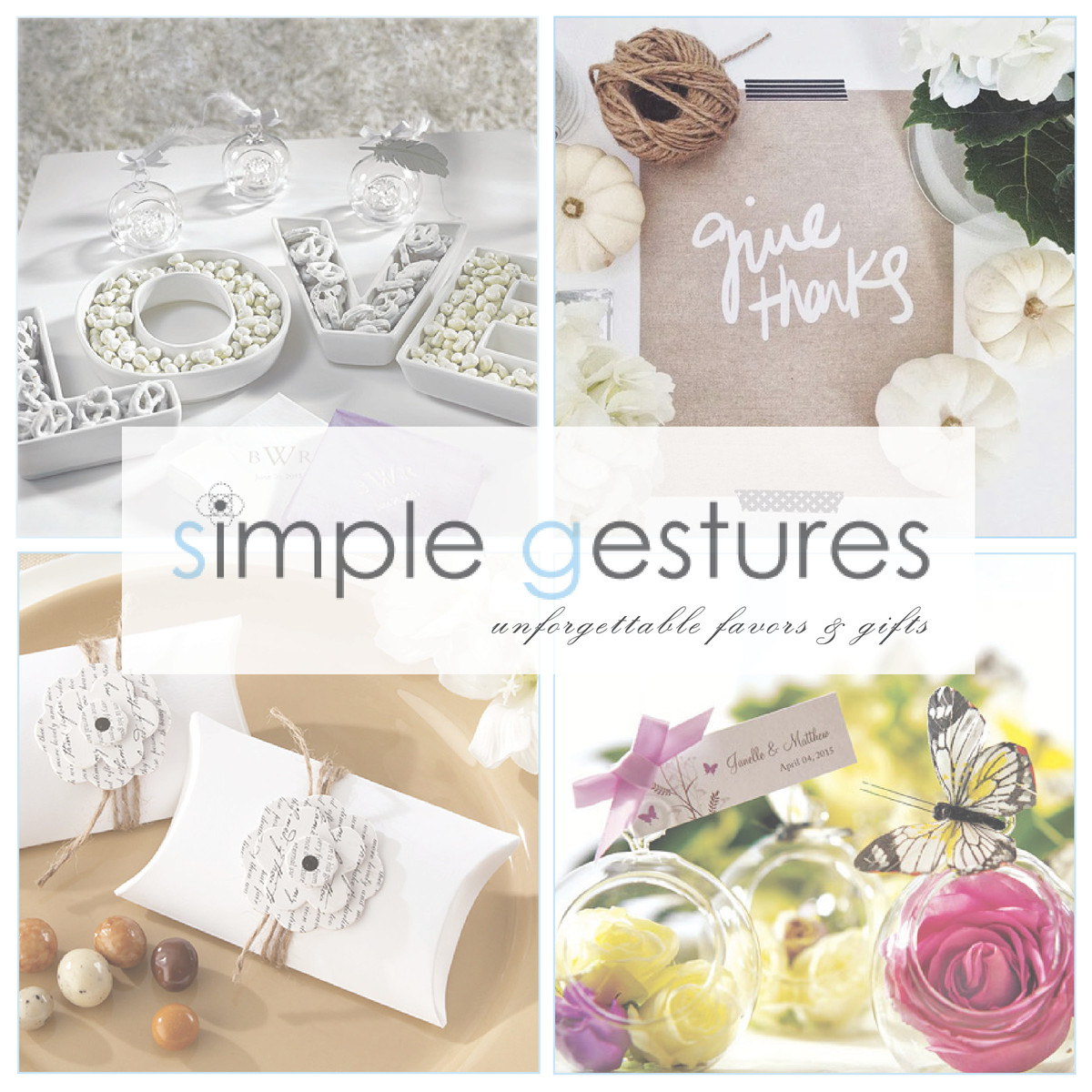 Simple Gestures, Wedding Favors & Gifts, California