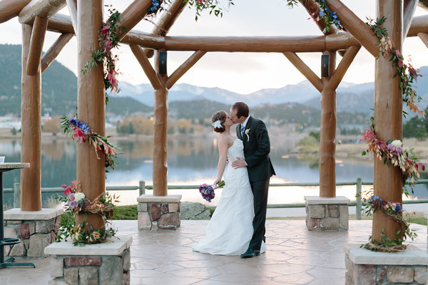 The estes park resort wedding ceremony reception venue for Wedding dress rental denver co
