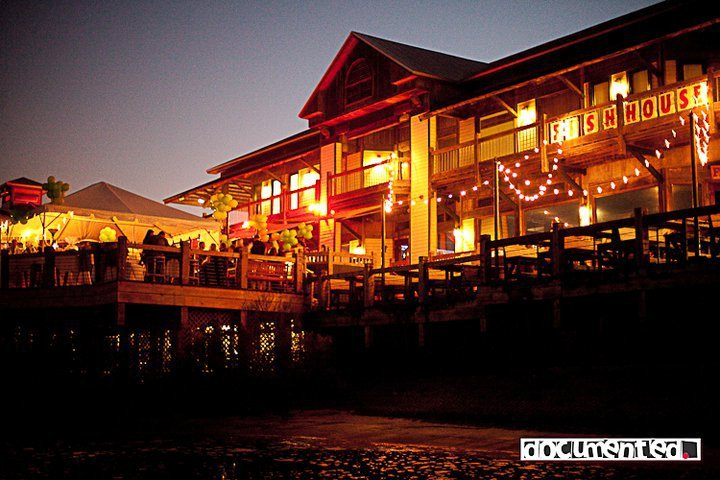The Fish House Atlas And Deck Bar Wedding Ceremony