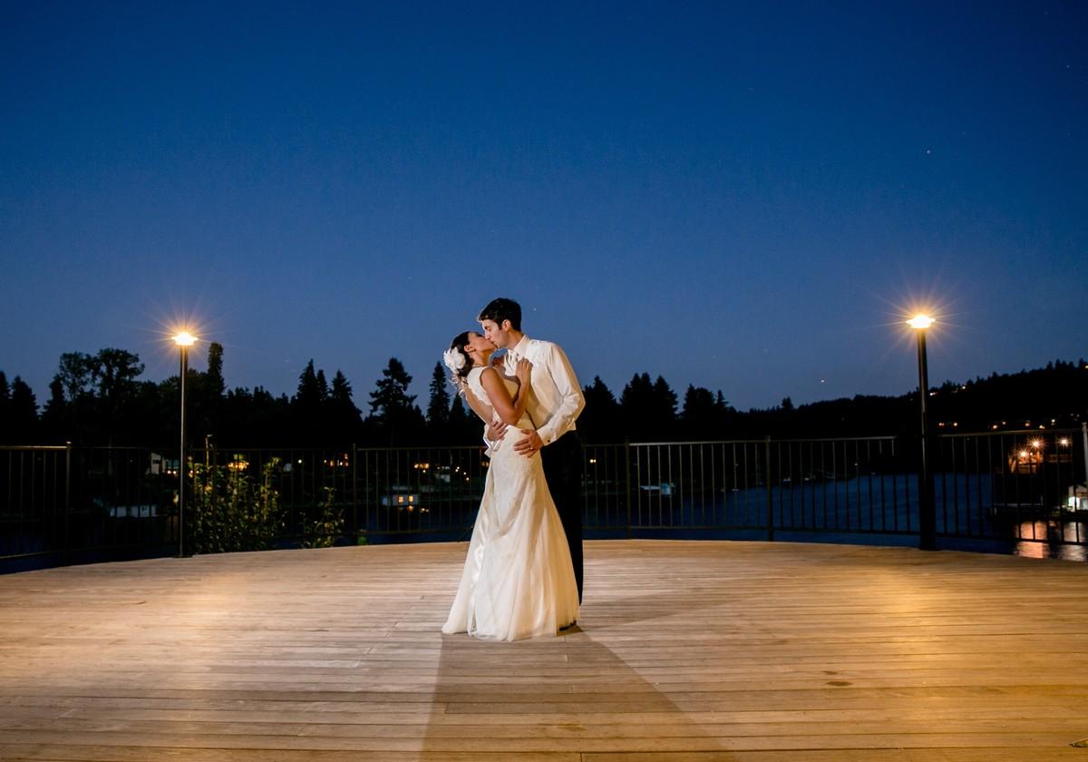 The foundry at oswego pointe wedding ceremony reception for Wedding dress rentals portland oregon