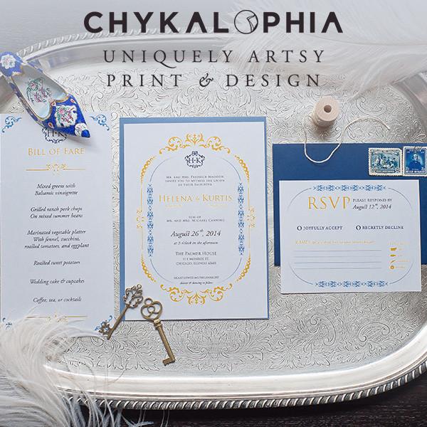 chykalophia design wedding invitations illinois chicago rockford