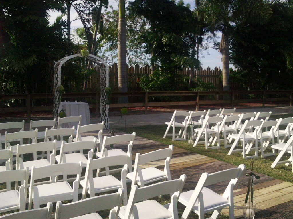 Tropical Touch Garden Center Wedding Ceremony Reception Venue Florida Miami Ft