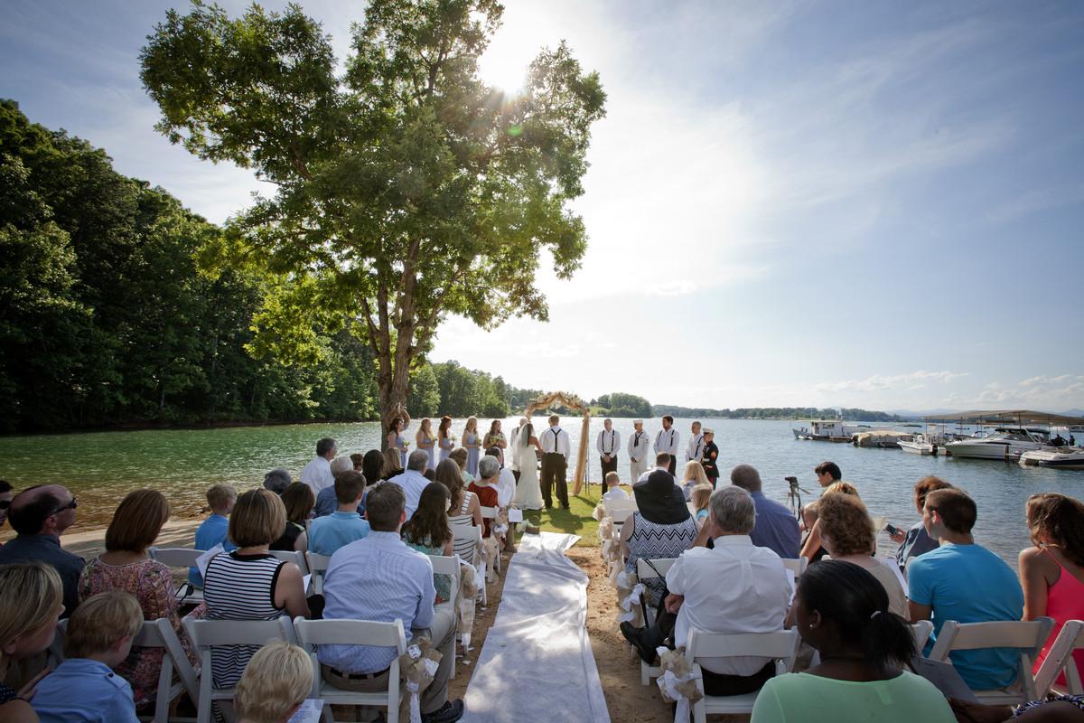 hidden cove at lake keowee  wedding ceremony  u0026 reception