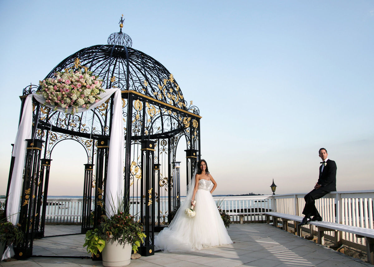 The surf club on the sound wedding ceremony reception for Wedding dress rental manhattan