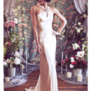 130x130 sq 1375815569315 asymetrical halter deco backless satin mermaid wedding dress b
