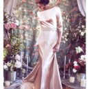 130x130 sq 1375815579885 bateau neck deco low back satin mermaid bridal  gown b