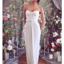 130x130 sq 1375815625397 corset column skirt lace city hall wedding  dress c