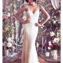 130x130 sq 1375815648494 vneck deco gatsby beaded lace 1930s low back wedding dress b