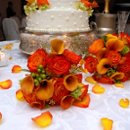 130x130 sq 1217300996635 orange%26greenbouquets 640x427