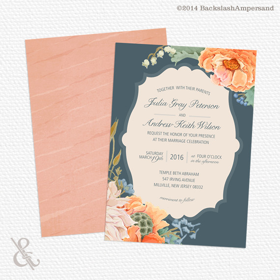 Wedding Invitations In Maryland: Backslash Ampersand, Wedding Invitations, Delaware
