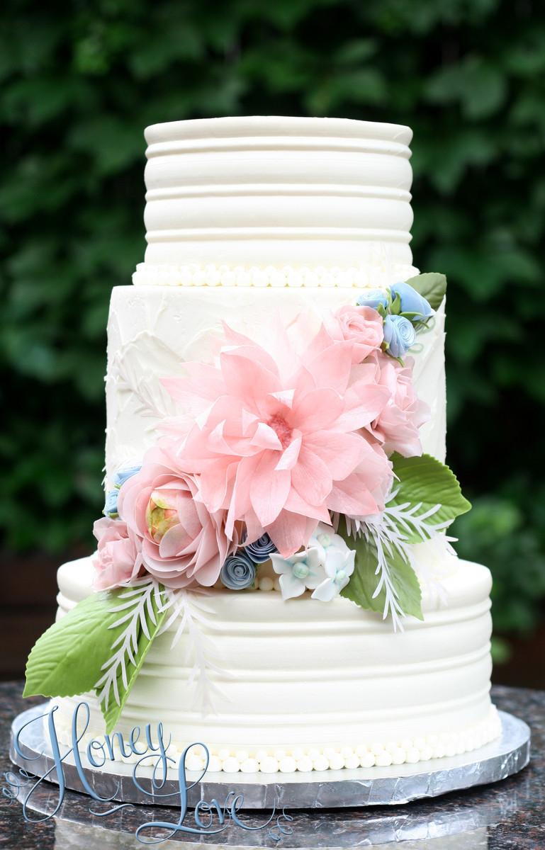 Honeylove Cakery Wedding Cake Texas Dallas Ft Worth