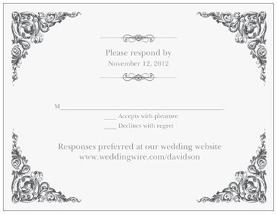 wedding rsvp wording template invitations