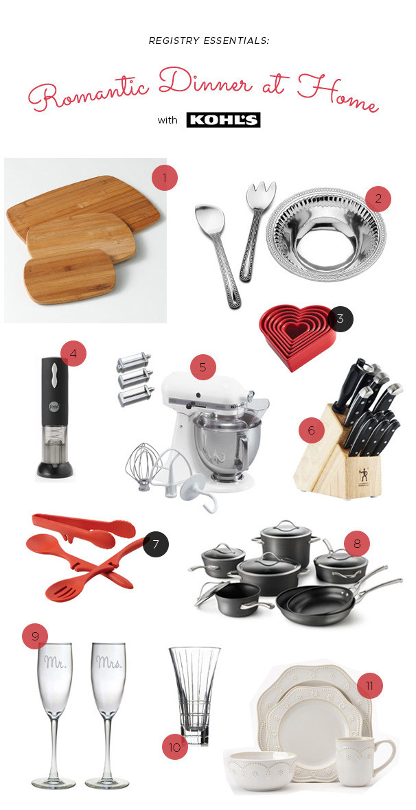 Romantic Dinner Registry Essentials - Wedding Registry
