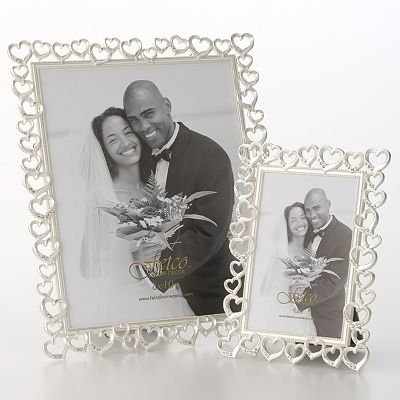 crystal accent open heart frames kohls
