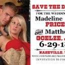 Great save the date with a little western flair. You design on line, we print and offer this design in magnets, postcards, cards and invitations!