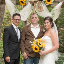 220x220 sq 1428978891414 nicole and kevin bride groom officiant