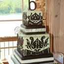 130x130 sq 1286114408279 greenbrownweddingcakeburandt