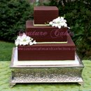 130x130 sq 1286115094779 chocolategreensquareweddingcake
