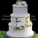 130x130 sq 1286116089857 whitediamondsandrosesweddingcake