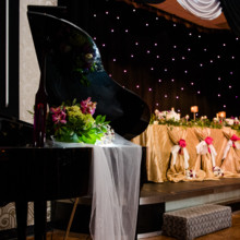 220x220 sq 1497289484806 wedding   piano and head table gold