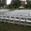 130x130 sq 1415752062024 white padded chairs