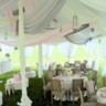 96x96 sq 1413888672919 century pole tent with silver blush  oyster decro