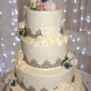 130x130 sq 1425058161969 wedding cake with lace ribbon