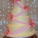 130x130 sq 1425060211473 cake with pink fondant ribbon