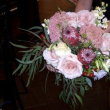 220x220 sq 1482943314105 pink bridal bouquets