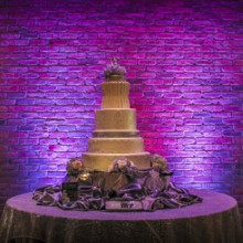 220x220 sq 1372275379736 purple up lights behind cake