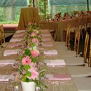 130x130 sq 1179321884281 pinkcrushedshimmerguesttables