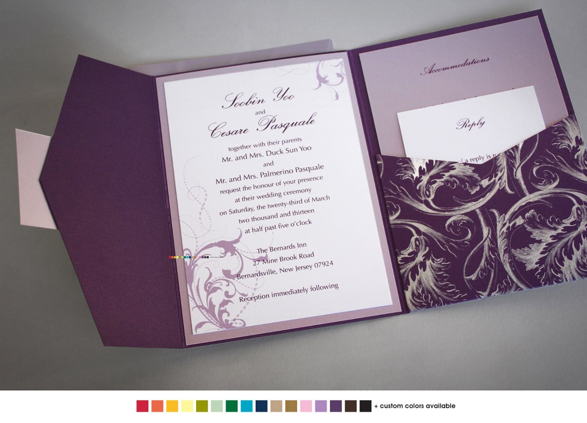 Silver And Purple Wedding Invitations: Wedding Invitations Photos, Wedding Invitations Pictures