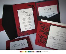 Creating the highest quality wedding invitations since 1994. Our designer team will make your invitation dream come true. Custom design every aspect of the invitation: colors, pocket fold, panel or other enclosure, enclosure cards and embellishments.