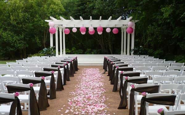 Wedding Pergola With Lanterns
