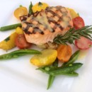 130x130 sq 1427752550152 plated salmon with veggies  risotto cake 5