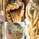 130x130 sq 1490042841041 bridal hair braided crown wedding ideas 2