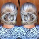 130x130 sq 1490042894565 bridal hair updo bun wedding ideas 1