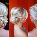 130x130 sq 1490042963531 bridal hair updo messy bun wedding ideas 1